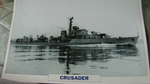 Crusader 1944 warship framed picture
